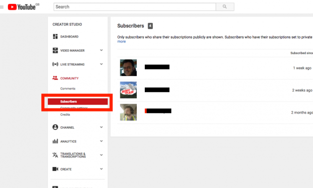 See Your YouTube Subscriber List